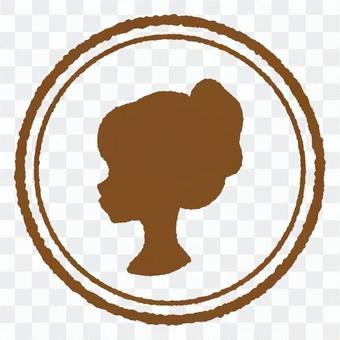 古董郵票女子1