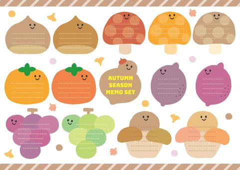 Autumn memo & frame Autumn taste
