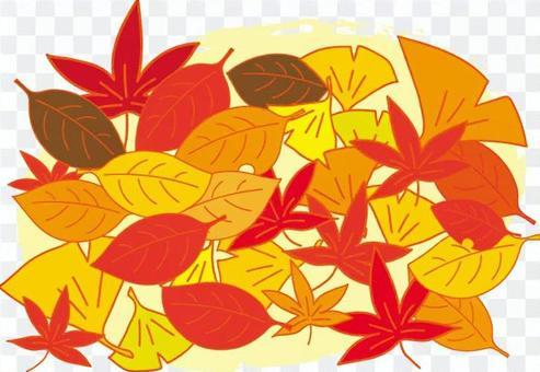 倒下的葉子混合