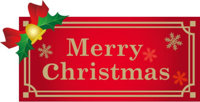 Christmas character label