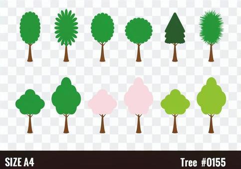 Set of roadside trees (trees)