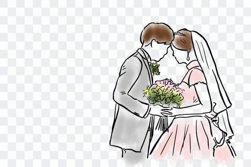 婚禮西方服裝圖的顏色