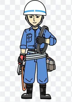 Electric construction worker