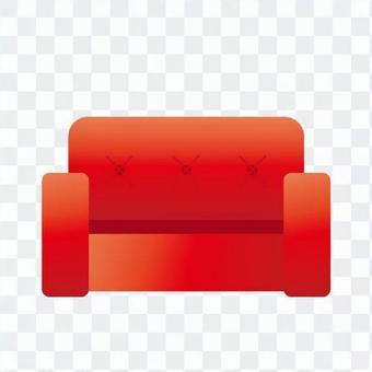 Red sofa 1