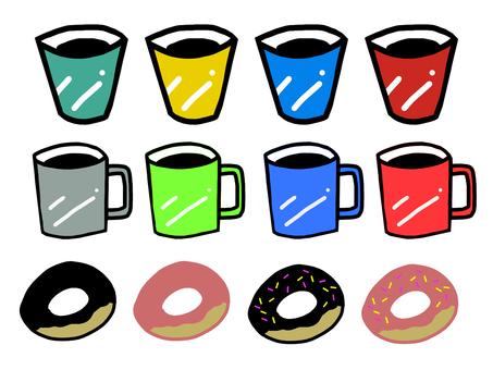 Mug and donut set