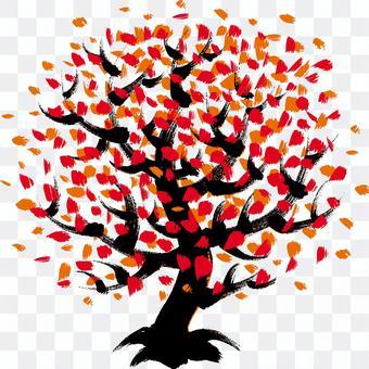 用刷子撫摸的樹木