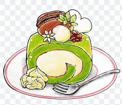 抹茶卷蛋糕