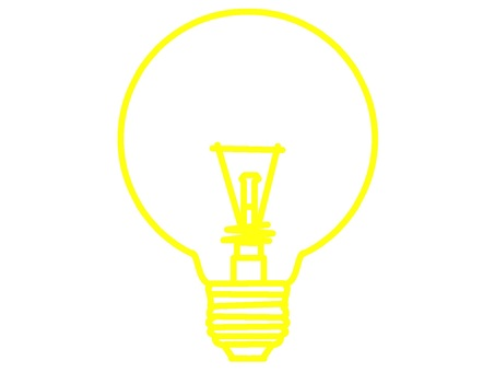 Solid color light bulb icon