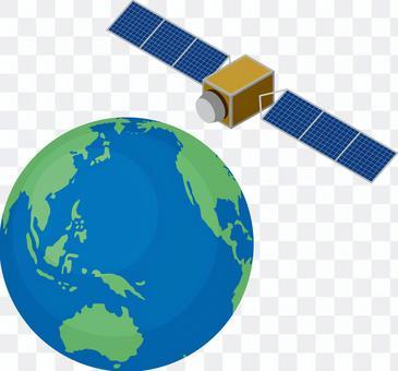 人工衛星 GPS衛星 地球