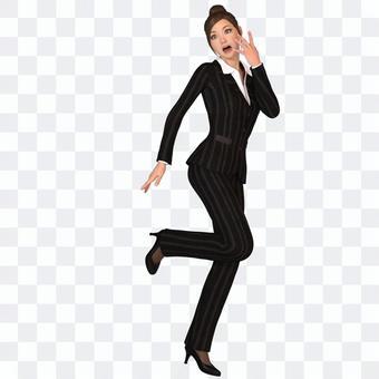 褲子西裝女人06
