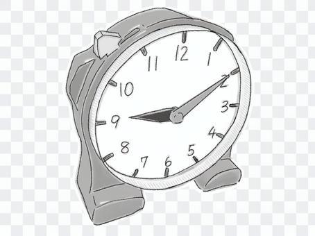 さんすうセットの時計(白黒)