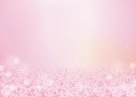 薔薇、背景、A4横、塗足付