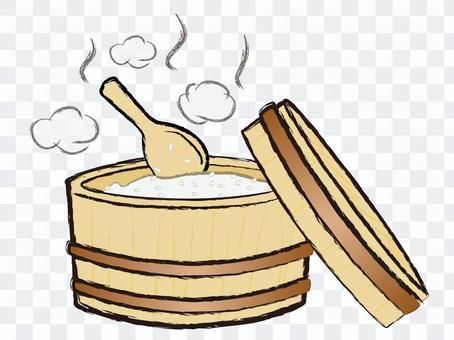 日式煮熟的米飯