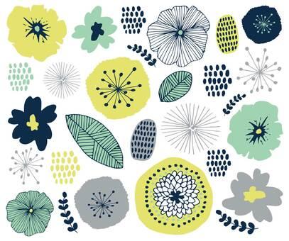 북유럽 바람꽃 무늬 여름