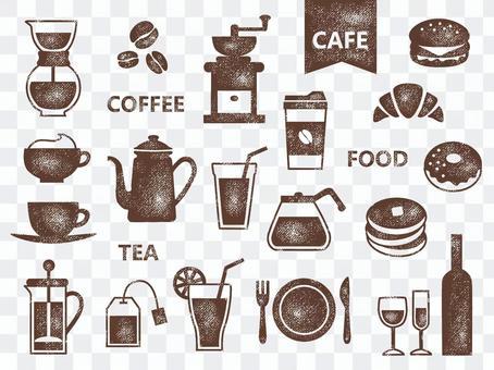 咖啡館郵票001