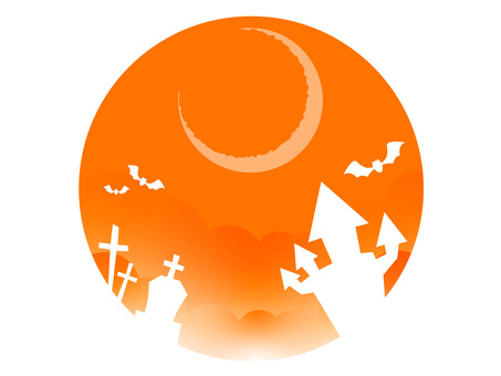 萬聖節背景(新月)