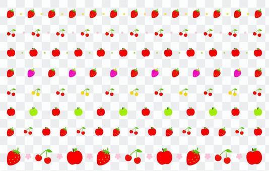 赤のフルーツ枠