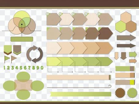 A collection of simple and natural presentation items