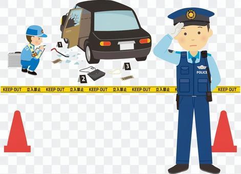 趕到案發現場的警察