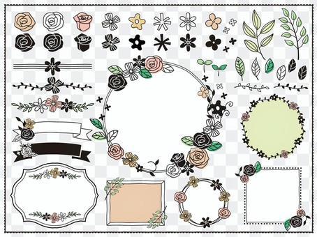 手寫植物材料/花套裝