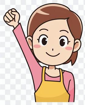 一個女人舉起她的手臂