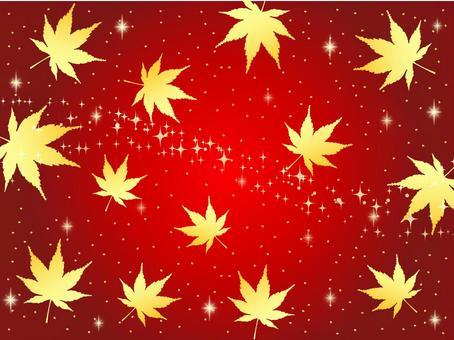 秋天的紅色背景楓葉