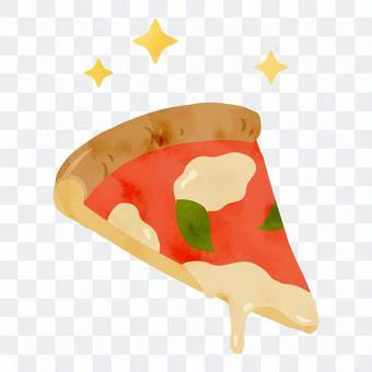 美味的比薩的插圖