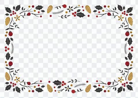冬季背景框架015聖誕節