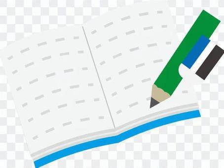 Notebooks and writing utensils