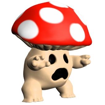 蘑菇鬼對角線橫向變形CG