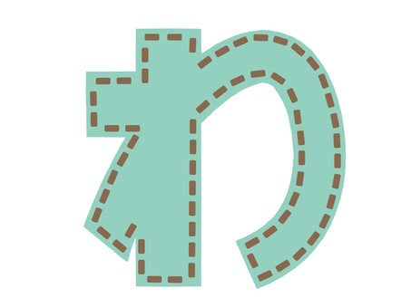 Emblem-style hiragana