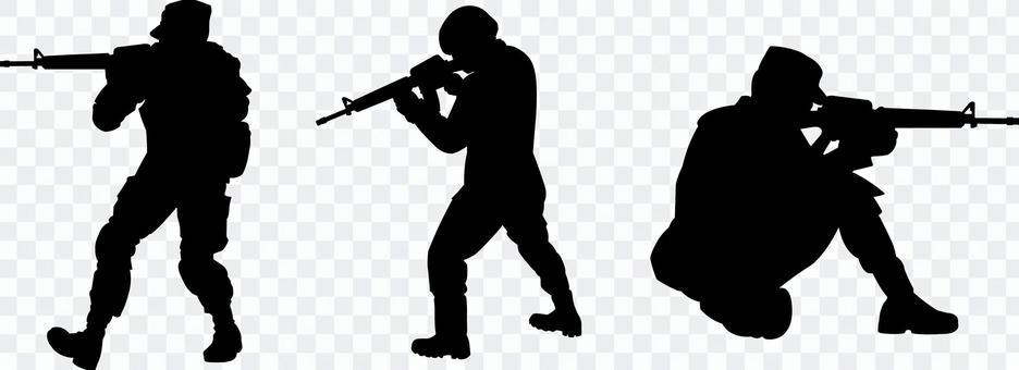 士兵士兵剪影