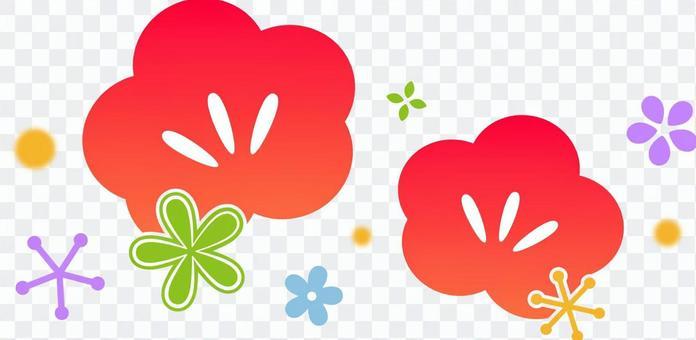 Plum blossom simple cut