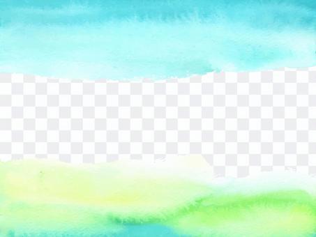 水彩背景フレーム