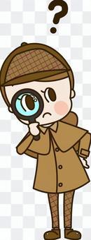 一個神秘的偵探小姐(偵探9)