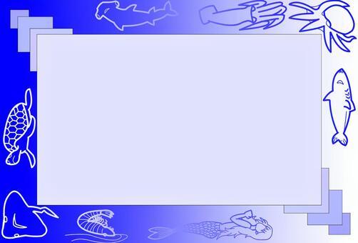 明信片框架海洋