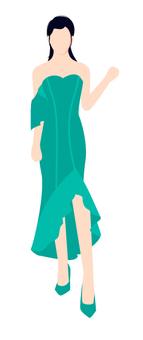 穿著綠色衣服的女人