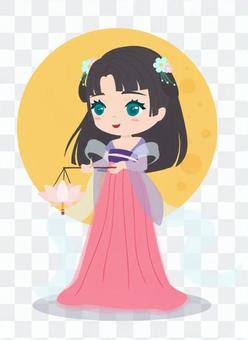Goddess with lotus flowers