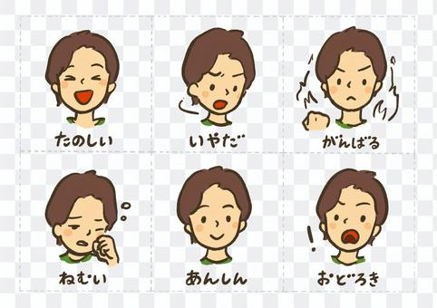 表達感情的表情組②