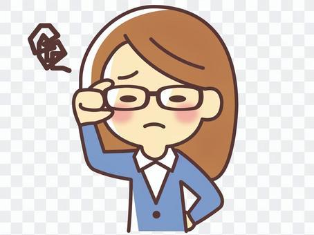 一個眼鏡很難看的女人(034)