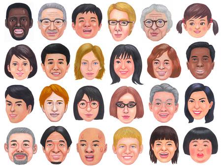 各種面孔的插圖集 4