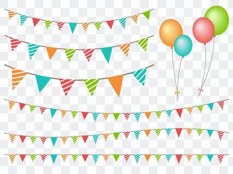 5805旗幟氣球,條紋1