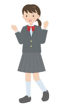 制服(西裝外套)B的女學生