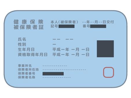 帶二維碼屏蔽的健康保險卡