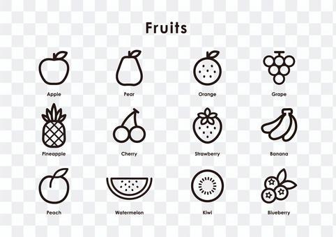 水果圖標集(行版)
