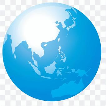 Blue earth and white earth