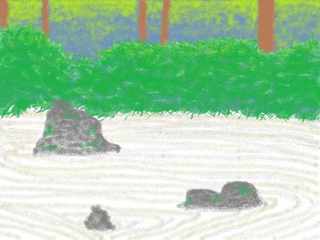枯山水花園