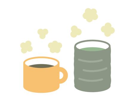 커피 _ 녹차 _ 찻잔 _ 뜨거운 음료