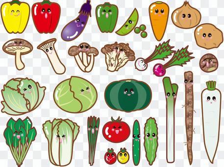 可愛的蔬菜(PNG是透明的,沒有背景)