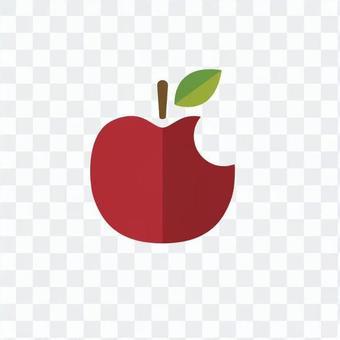 蘋果吃了一半